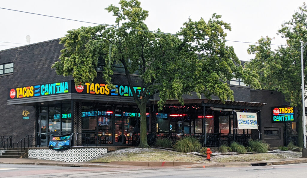 Exterior shot of the new Ted's Tacos and Cantina