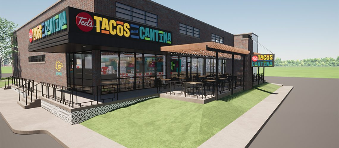 Ted's Tacos and Cantina Exterior Rendering